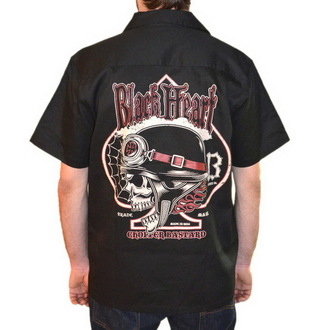 shirt men BLACK HEART - Chopper Bastard - Black - BH112