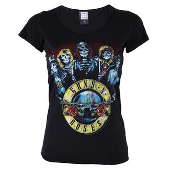 t-shirt metal women's Guns N' Roses - Skeletor - AMPLIFIED - AV601GSK