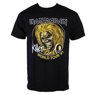 t-shirt metal men's Iron Maiden - Killers World Tour 81 - ROCK OFF, ROCK OFF, Iron Maiden