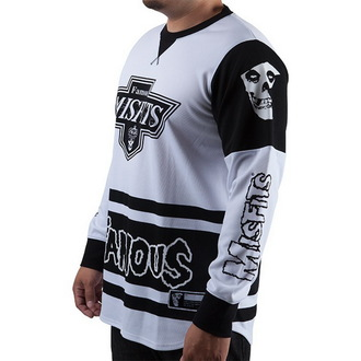 t-shirt men with long sleeve (jersey) FAMOUS STARS & STRAPS - Misfits - WHT / BLK