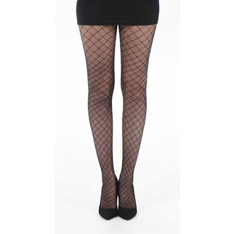 tights PAMELA MANN - Checkers Net - Black - PM232