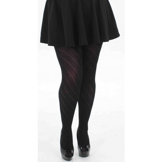 tights PAMELA MANN - Diagonal Opaque - Black, PAMELA MANN