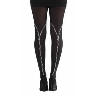tights PAMELA MANN - Flocked Zipper - Silver, PAMELA MANN