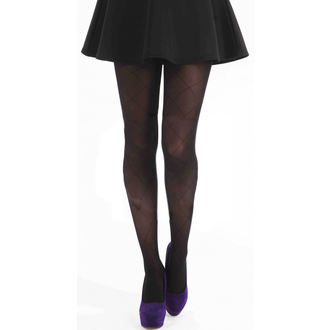 tights PAMELA MANN - Large Diamond - Black, PAMELA MANN