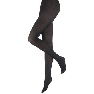 tights PAMELA MANN - Opaque Ribbed - Black, PAMELA MANN