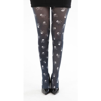 tights PAMELA MANN - Skulls B Printed - Black / White - PM214