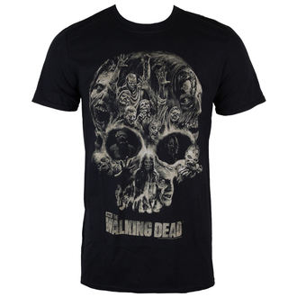 film t-shirt men's The Walking Dead - Skull - INDIEGO - Indie0327