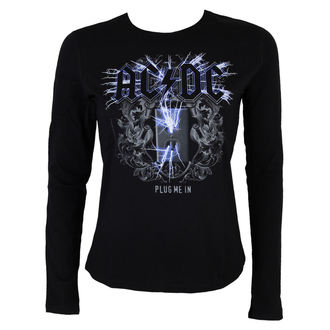 t-shirt women with long sleeve AC / DC - Plug me in - BLK - LOW FREQUENCY - ACGLS05005