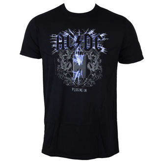 t-shirt metal men's AC-DC - Plug me in - LOW FREQUENCY - ACTS05005