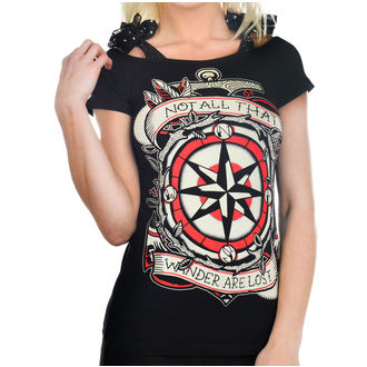 t-shirt gothic and punk women's - Anabel Bow - TOO FAST - TOO004