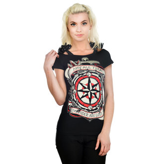 t-shirt gothic and punk women's - Anabel Bow - TOO FAST