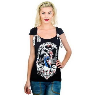 t-shirt gothic and punk women's - Shock - TOO FAST - TOO006