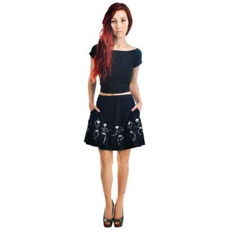 skirt women's TOO FAST - Strode - Dancing Skeletons - TOO001