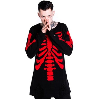 sweater (unisex) KILLSTAR - Skeletor - Red - KIL079