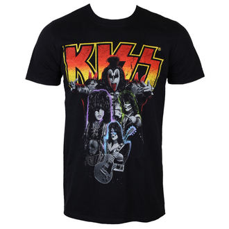 t-shirt men KISS - Neon Band - PLASTIC HEAD - PH9355