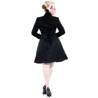 coat women's spring/fall HEARTS AND ROSES - Black Brocade, HEARTS AND ROSES