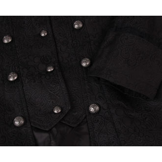 coat women's spring/fall HEARTS AND ROSES - Black Brocade - 9187
