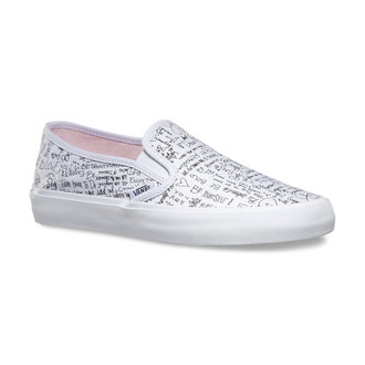 low sneakers women's - Slip-On (Leila) Quotes/Barely Pink - VANS - V19SIG0