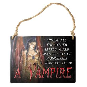 hanging plaque ALCHEMY GOTHIC - When All The Other Little Girls, ALCHEMY GOTHIC