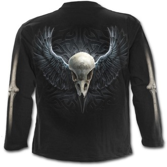 t-shirt men with long sleeve SPIRAL - Raven Cage - T125M301