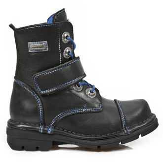 leather boots children's - ROADSTAR NEGRO FOAMIZADO - NEW ROCK - M.KID001-S2
