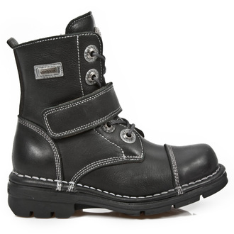 leather boots children's - ITALI ROADSTAR KID NEGRO - NEW ROCK - M.KID001-S1