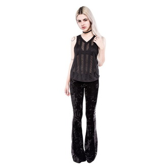 top women IRON FIST - Patti V Neck Slouchy Vest - Black - LIC004043