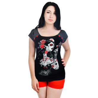 t-shirt gothic and punk women's - MYSTERIOUS BEAUTY - TOO FAST