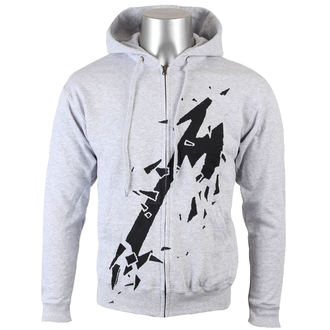 hoodie men Metallica - Met - Heather Grey - LIVE NATION - MTLZHHGSMAP