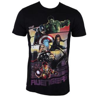 t-shirt men Avengers - Avengers Bars - ROCK OFF - AVAOUTS01MB
