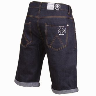 shorts men BLACK HEART - Cross - Denim - BH161