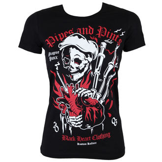 t-shirt street women's Pipes and Pints - Pipes And Pints - BLACK HEART - BH125