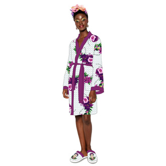 Bathrobe Frida Kahlo - Violet Bouquet, NNM