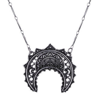 collar Restyle - Henna Crescent Silver - RES048