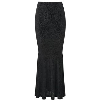 skirt women's KILLSTAR - Burn Baby Maxi - Black - KIL317