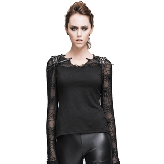 t-shirt gothic and punk women's - Gothic Dusk - DEVIL FASHION - DVTT013