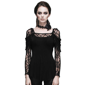 t-shirt gothic and punk women's - Gothic Dhalia - DEVIL FASHION - DVTT011