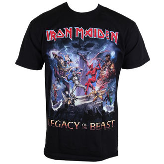 t-shirt metal men's Iron Maiden - Legacy Of The Beast - ROCK OFF - IMTEE55MB