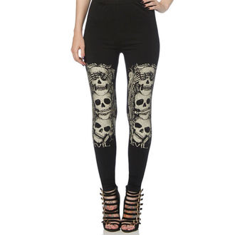 pants women (leggings) VOODOO VIXEN - Black - LGA6516