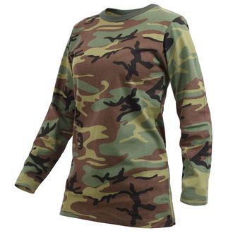 t-shirt women with long sleeve ROTHCO - WOODLAND CAMO - 3678