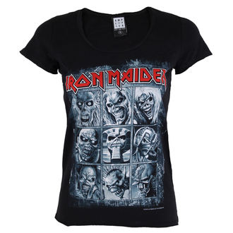 t-shirt metal women's Iron Maiden - EDDIES - AMPLIFIED, AMPLIFIED, Iron Maiden