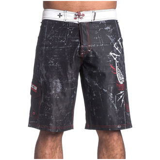 swimsuits men (shorts) AFFLICTION - Wild Wing - BK, AFFLICTION