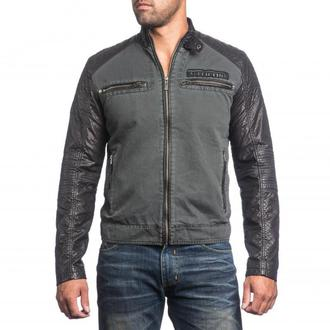men jacket spring/fall AFFLICTION - Cyclone Racer - BK, AFFLICTION