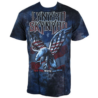 t-shirt metal men's Lynyrd Skynyrd - True Red, White & Blue Tie-Dye - LIQUID BLUE, LIQUID BLUE, Lynyrd Skynyrd