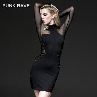 dress women PUNK RAVE - Fatal Kiss, PUNK RAVE