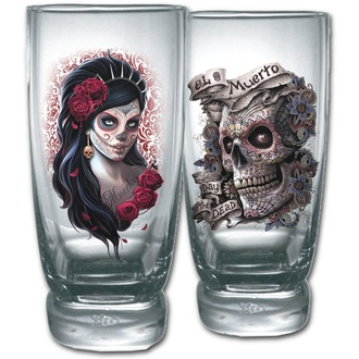 glass (set 2ks) SPIRAL - DAY OF THE DEAD - K026A001