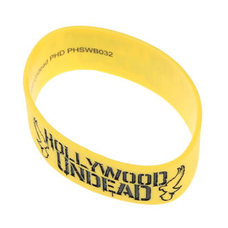 rubber bracelet Hollywood Undead - Mirror - Doves Yellow - PLASTIC HEAD - PHSWB032