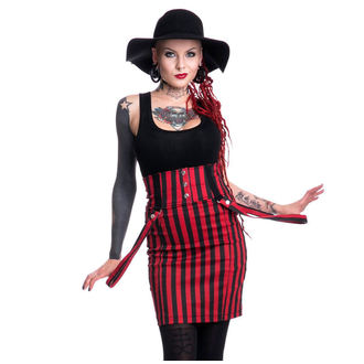 skirt women's POIZEN INDUSTRIES - BREAK - BLACK / RED - POI144