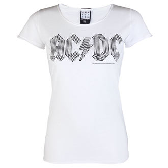t-shirt metal women's AC-DC - LOGO WHITE BLACK - AMPLIFIED, AMPLIFIED, AC-DC