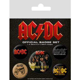 Badges AC / DC (Logo), PYRAMID POSTERS, AC-DC